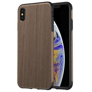 ROCK Black Rose Wood Texture TPU Case for iPhone XS Max