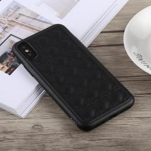 TOTUDESIGN Deo serie Shockproof TPU + PU Case voor iPhone XS Max (zwart)