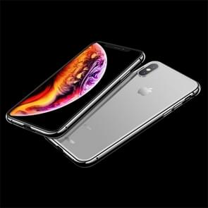 JOYROOM Smooth Series Shockproof Transparent TPU + Glass Protective Case for iPhone XS Max (White)