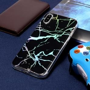 Kleur Plated marmer TPU Case voor iPhone XS Max