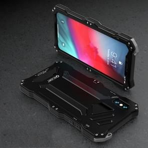 Gundam Rugged Armor Metal + TPU Protective Case for iPhone XS Max(Black)