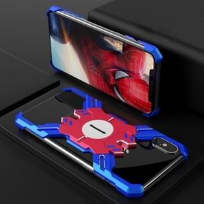 Hero serie ruige Armor metalen beschermhoes voor iPhone XS Max (blauw + rood)
