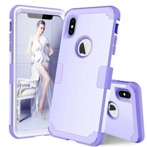Dropproof PC + Silicone Case for iPhone XS Max (Light Purple)
