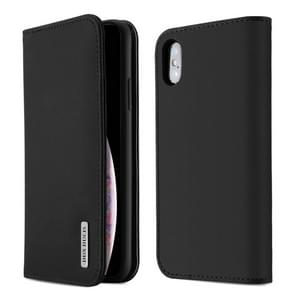 DUX DUCIS WISH Series TPU + PU + Leather Case for iPhone XS Max, with Card Slots & Wallet (Black)