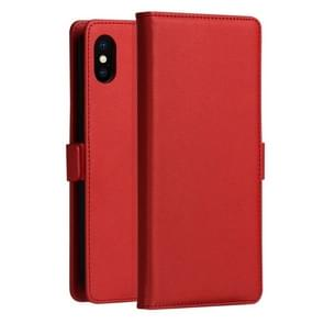 DZGOGO MILO Series PC + PU Horizontal Flip Leather Case for iPhone XS Max, with Holder & Card Slot & Wallet(Red)