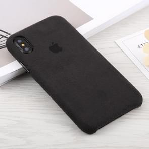 Suede PC Protective Back Cover Case for iPhone XS Max (Black)