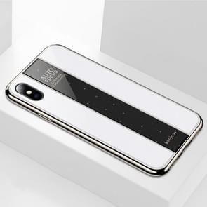 Gegalvaniseerde spiegel glazen Case voor iPhone XS Max (wit)