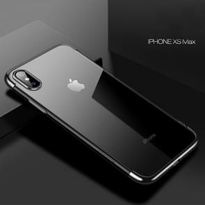 CAFELE Ultra-thin Electroplating Soft TPU Shockproof Protective Case for iPhone XS Max(Black)