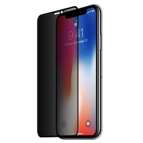 0.26mm 9H 3D Highly Transparent Privacy Anti-glare Tempered Glass Film for iPhone XS Max (Black)