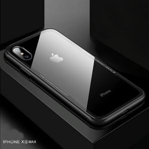 CAFELE TPU + Tempered Glass Rear Cover Shockproof Protective Case for iPhone XS Max(Black)