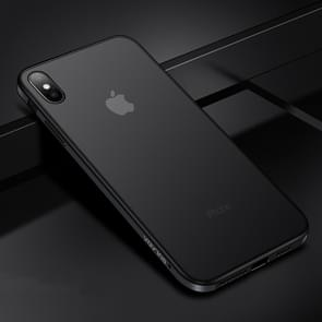 SULADA Shockproof Aviation Aluminum Metal frame + TPU + Frosted Back Plate Case for iPhone XS Max (Black)