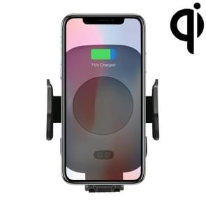 C9 Infrarood Sensing automatische Air Outlet beugel Qi standaard draadloze autolader (zwart)