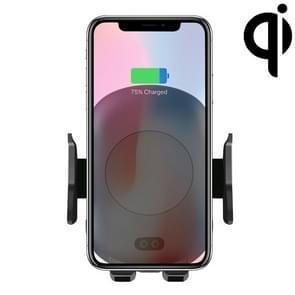 C10 Infrarood Sensing automatische Air Outlet beugel Qi standaard draadloze autolader (zwart)