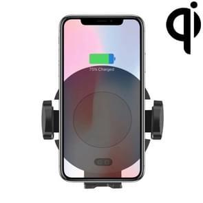 C11 Infrarood Sensing automatische Air Outlet beugel Qi standaard draadloze autolader (zwart)