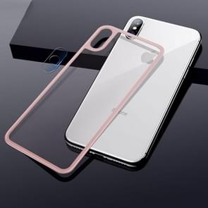 TOTUDESIGN Rhino Family Tempered Glass Camera Lens + Back Protective Film Set for iPhone XS Max (Pink)