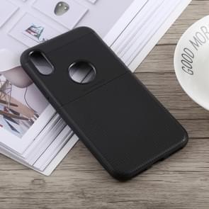 Antislip Square TPU Case voor iPhone XS Max (zwart)