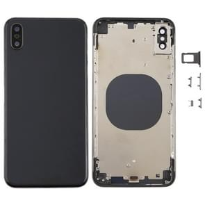 Back Cover with Camera Lens & SIM Card Tray & Side Keys for iPhone XS Max(Black)