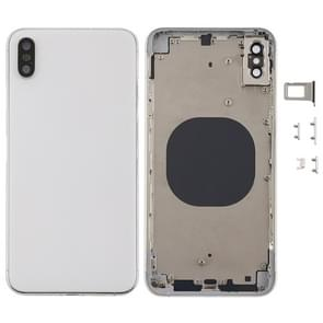Back Cover met Camera Lens & SIM Card Tray & Side Keys voor iPhone XS Max(Wit)