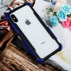 Blade Acrylic + TPU Shockproof Protective Case for iPhone XS Max (Black Blue)