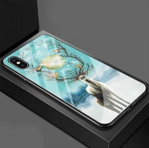 Moonlight Elk Pattern Glass Case for iPhone XS Max