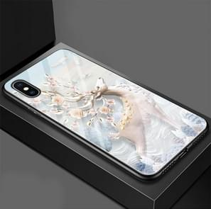 Dream Elk Pattern Glass Case for iPhone XS Max