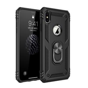 Armor schokbestendige TPU + PC beschermhoes voor iPhone XS Max  met 360 graden rotatie houder (zwart)