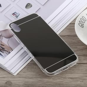 Acrylic + TPU Electroplating Mirror Case for iPhone XS Max (Black)