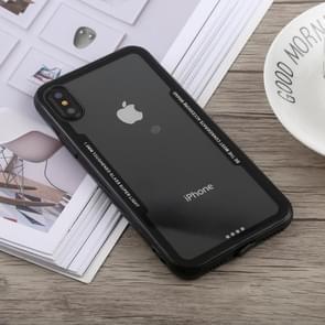 Acryl + TPU Shockproof Case voor iPhone XS Max(Black)