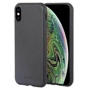 MERCURY GOOSPERY STYLE LUX Shockproof Soft TPU Case for iPhone XS Max(Black)