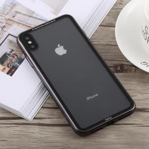 TOTUDESIGN Style Series Electroplating Transparent TPU + PC Case for iPhone XS Max (Grey)