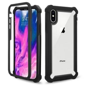 Four-corner Shockproof All-inclusive Transparent Space Case for iPhone XS Max(Black)