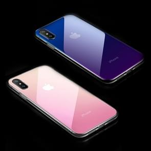 CAFELE Gradient Color Glass Case for iPhone XS Max(Pink)