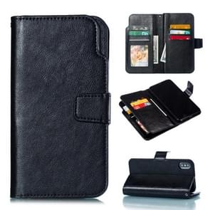 Crazy Horse Texture Horizontal Flip Leather Case for iPhone XS Max, with Card Slots & Wallet & Photo Frame(Black)