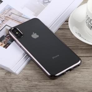 TOTUDESIGN Jane Series Electroplating TPU Case for iPhone XS Max(Grey)