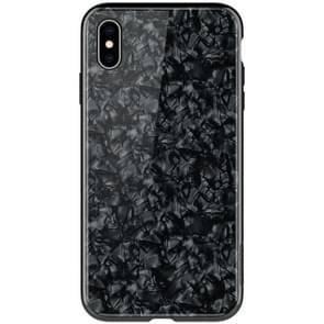 NILLKIN Shell Texture Glass Protection Case for iPhone XS Max(Black)