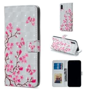 Butterfly Love Flower Pattern Horizontal Flip Leather Case for iPhone XS Max, with Holder & Card Slots & Photo Frame & Wallet