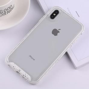 Two-color Frame Acrylic PC Case for iPhone XS Max (White)