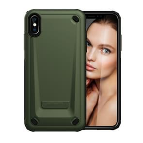 Ultra-thin TPU+PC Mechanic Shockproof Protective Case For iPhone XS Max(Army Green)