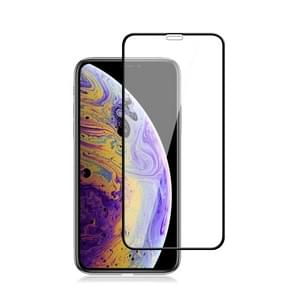 mocolo 0.33mm 9H 2.5D Silk Print Tempered Glass Film for iPhone XS Max (Black)