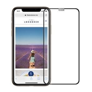MOFI 9H oppervlakte hardheid 2.5D Arc rand explosieveilige vol scherm Tempered glas Film voor iPhone XR (zwart)
