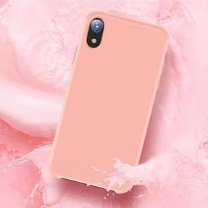 TOTUDESIGN Liquid Silicone Dropproof Protective Case for iPhone XR(Pink)