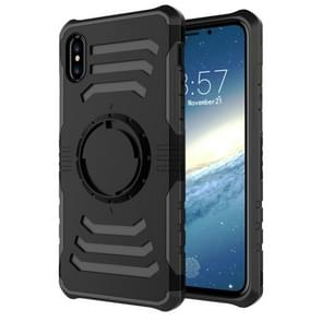 Sharp Sword Pattern Case for iPhone XR, with Armlet(Black)