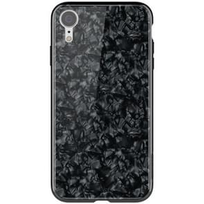 NILLKIN Shell Texture Glass Protection Case for iPhone XR (Black)