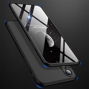 GKK Three Stage Splicing Full Coverage PC Case for iPhone XR(Black)