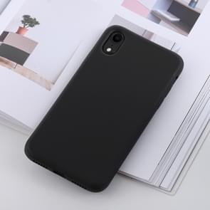 Shockproof Solid Color Liquid Silicone Feel TPU Case for iPhone XR (Black)