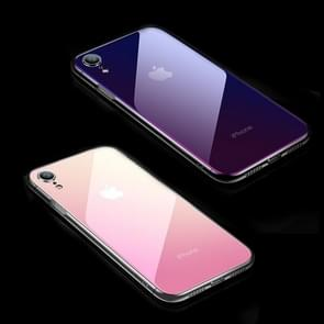 CAFELE Gradient Color Glass Case for iPhone XR(Pink)
