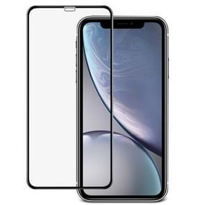 IMAK 9H oppervlakte hardheid volledige scherm getemperd glas Film voor iPhone XR (zwart)