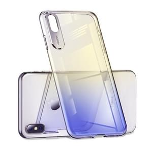 ROCK Gradient Color PC Protective Case for iPhone XR (Blue)