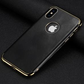 SULADA Plating Edge TPU + Leather Magnetic Protective Case for iPhone XR (Black)