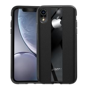 Anti-slip Leather + TPU Protective Case for iPhone XR (Black)